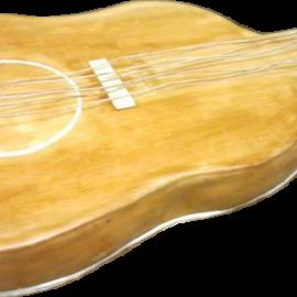 Framboisier en forme de guitare
