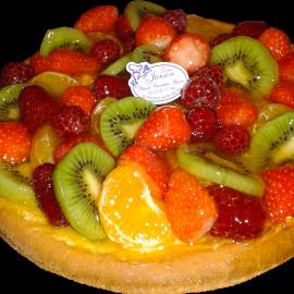 Tarte brioche fruits mélangés